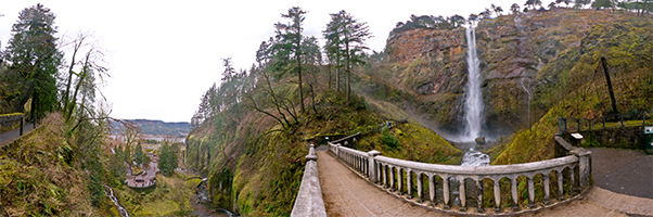 Multnomah Falls on the Bridge